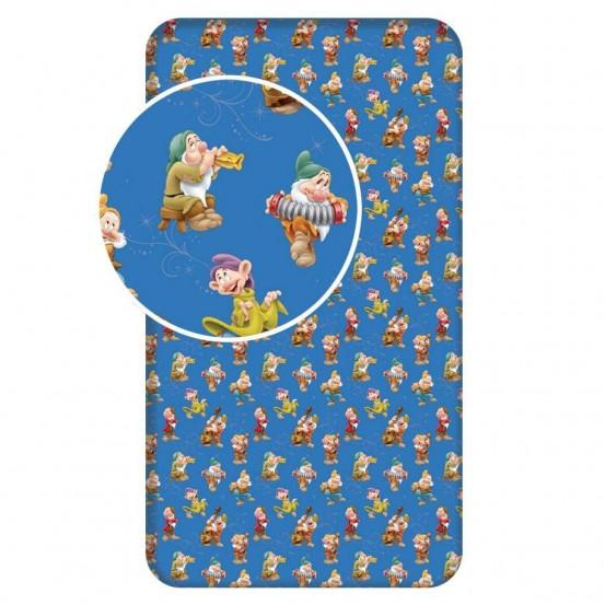 Zeven Dwergen - Hoeslaken - Eenpersoons - 90 x 200 cm - Blauw