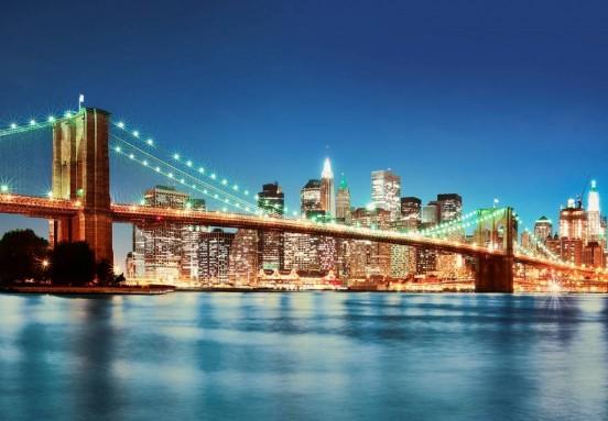 Wizzard and Genius Fotobehang New York East River