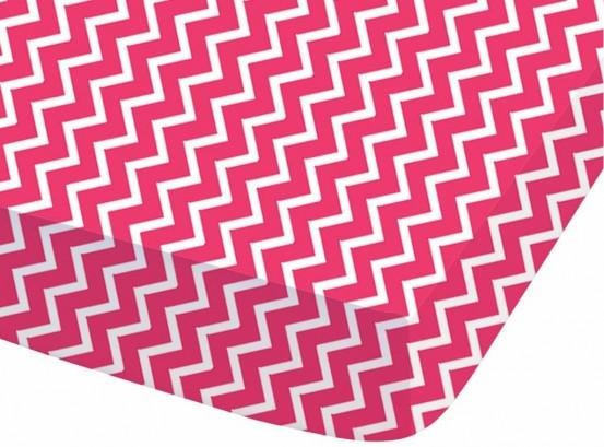 Graphic - Hoeslaken - Eenpersoons - 90 x 200 cm - Roze