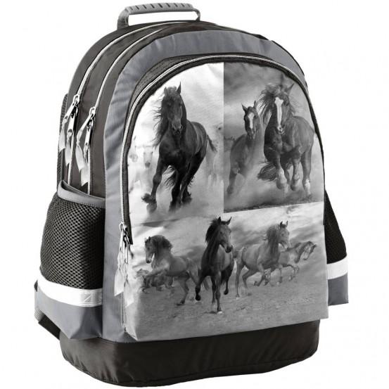 Paarden - Rugzak - 42 cm - Grijs