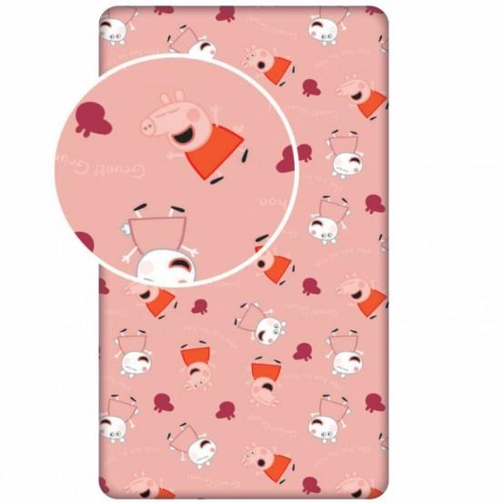 - Hoeslaken - Eenpersoons - 90 x 200 cm - Roze