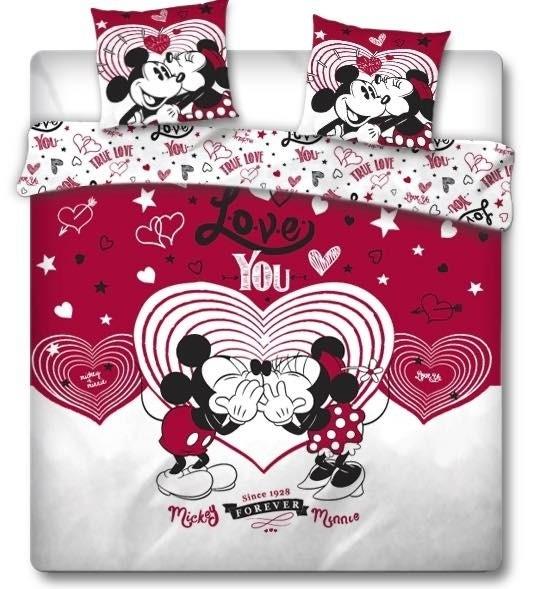 Minnie en Mickey Mouse Dekbedovertrek Love You -240 x 220 cm