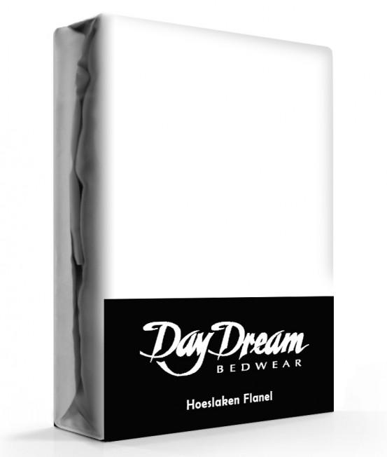 Flanellen Hoeslaken Wit Day Dream