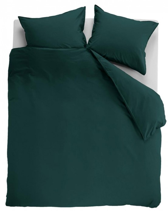Ambiante Dekbedovertrek Uni Cotton Dark Green
