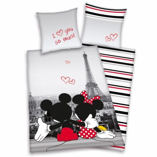 Teen World Dekbedovertek Mickey & Minnie Mouse Paris