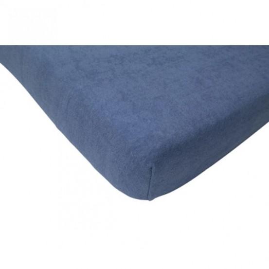 Hoeslaken badstof 75x150cm oudblauw