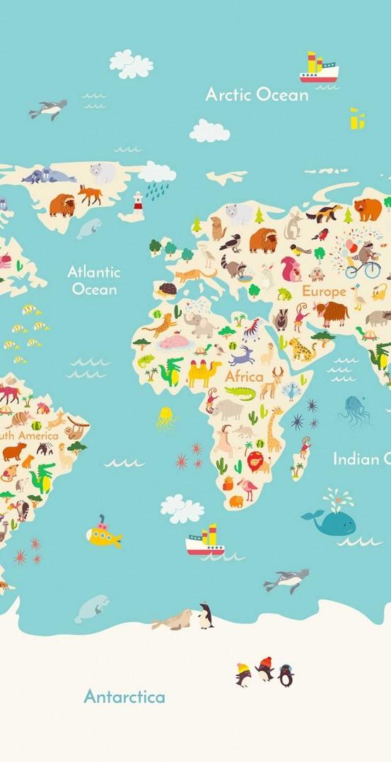 Good Morning Kids Strandlaken Worldmap
