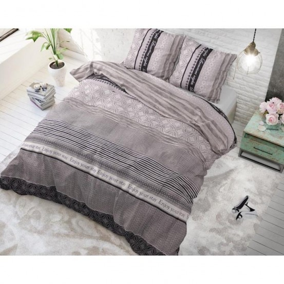Sleeptime Dekbedovertrek Your Stay Anthracite