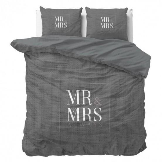 Dreamhouse Dekbedovertrek Mr and Mrs Elegant Antraciet