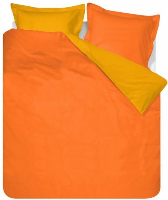 Effen Dekbedovertrek Kleur Oranje 240x200/220cm