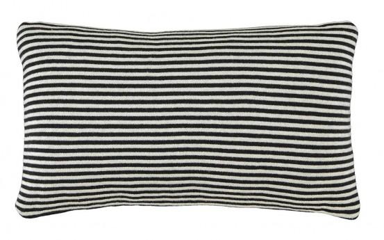 Marc O'Polo Sierkussen Arvid Black/Chalk 30 x 50cm