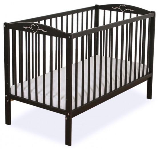 Baby Ledikant Hartje Donkerbruin