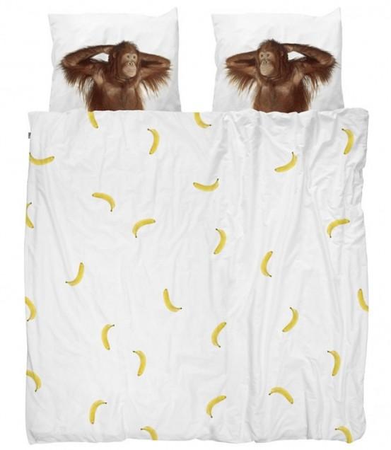 Snurk Dekbedovertrek Banana Monkey