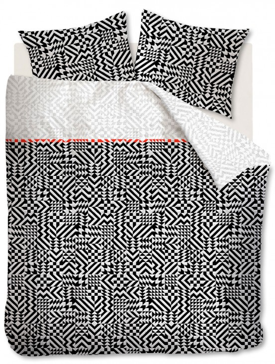 Beddinghouse dekbedovertrek Kumiko Black