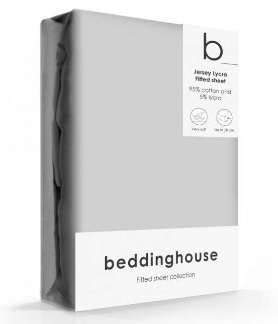 Beddinghouse Jersey-Lycra Hoeslaken Light Grey