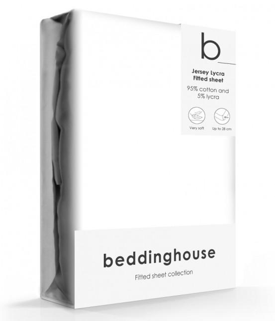Beddinghouse Jersey-Lycra Hoeslaken White