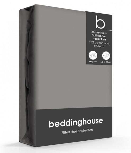 Beddinghouse Splittopper Hoeslaken Jersey Warm Grijs