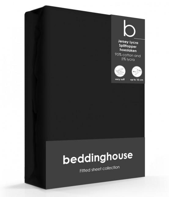 Beddinghouse Splittopper Hoeslaken Jersey Zwart