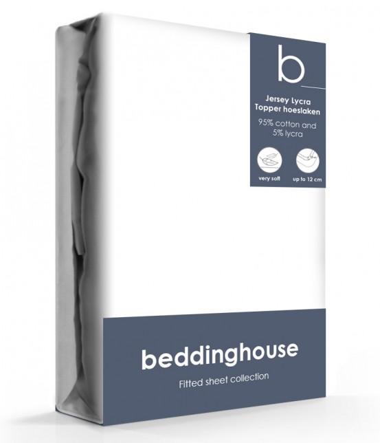Beddinghouse Jersey-Lycra Topper Hoeslaken White
