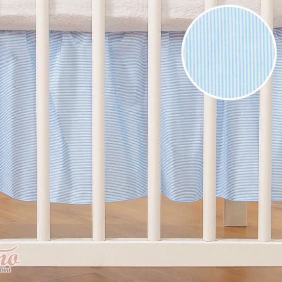 My Sweet Baby Bedrok Blauw/Streep 70x140cm