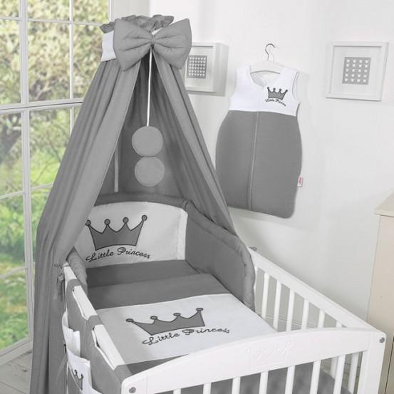 Bedset 3-Delig Little Prince/Princess Katoen Antraciet