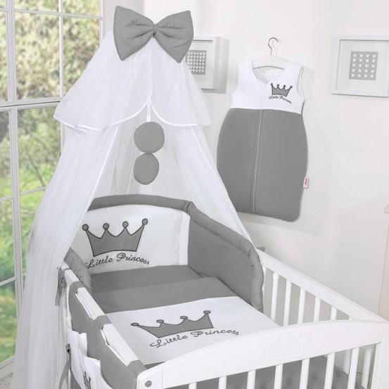 Bedset 3-Delig Little Prince/Princess Voile Antraciet