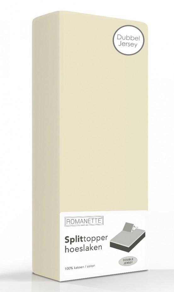 Double Jersey Splittopper Hoeslaken Romanette Beige