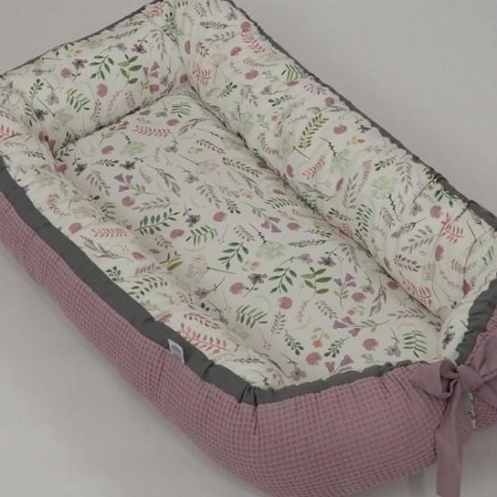 Betulli Babynestje Wafel Vintage Dusty Pink