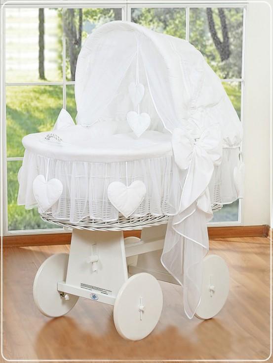 Bolderwagen Wieg Hanging Hearts White