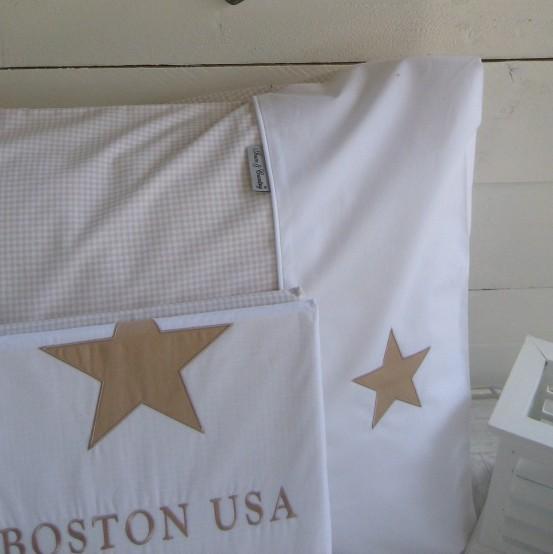 Town & Country dekbedovertrek Boston USA Beige