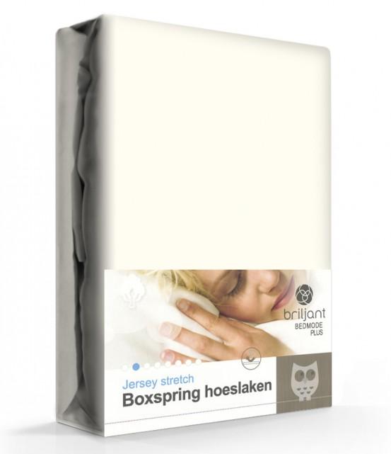 Boxspring/Waterbed Hoeslaken Jersey Ecru
