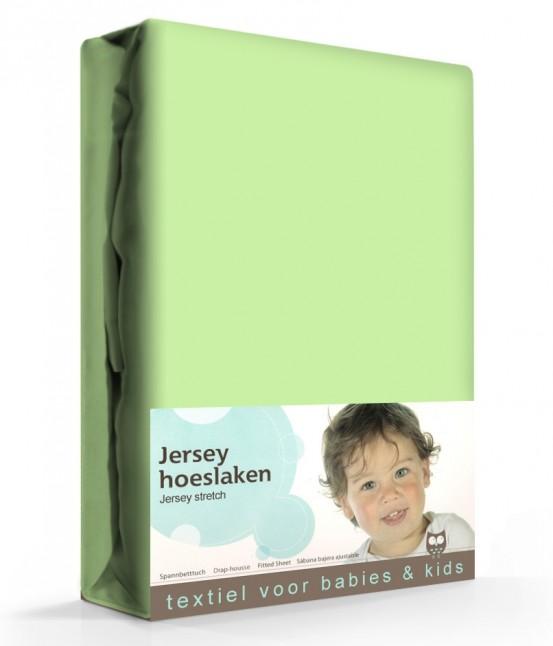 Briljant Hoeslaken Jersey 60x120cm Lime