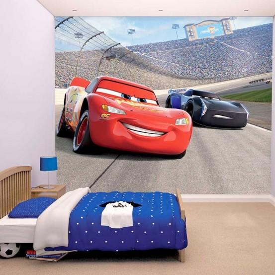 Disney Cars 3 Fotobehang (Walltastic)