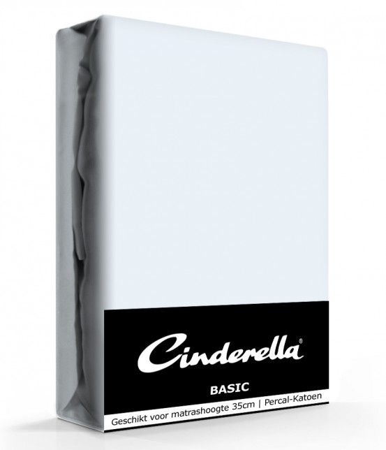 Cinderella Basic Hoeslaken Saffier Hoge Hoek - 40 cm