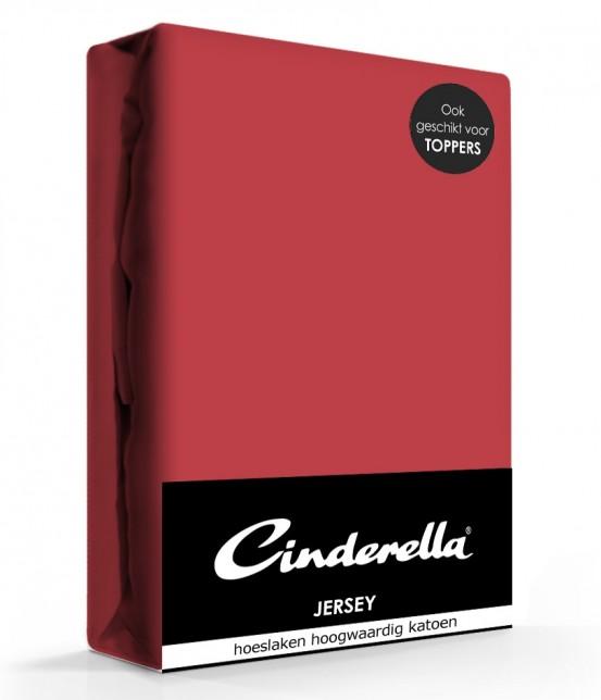 Cinderella Jersey Hoeslaken Rood