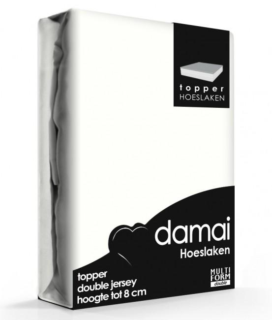Damai Multiform Double Jersey Topper Hoeslaken Wool White