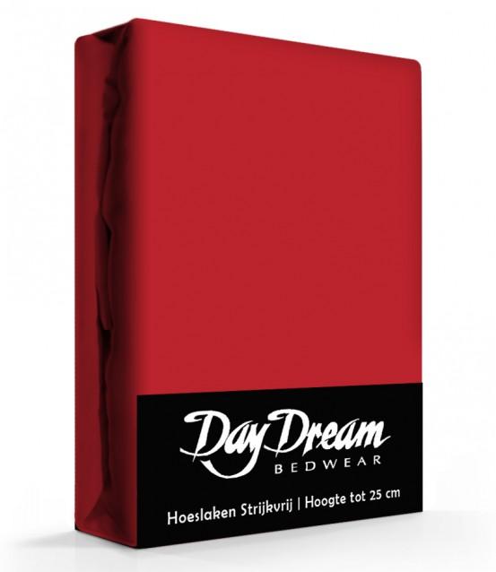 Day Dream Hoeslaken Katoen Rood