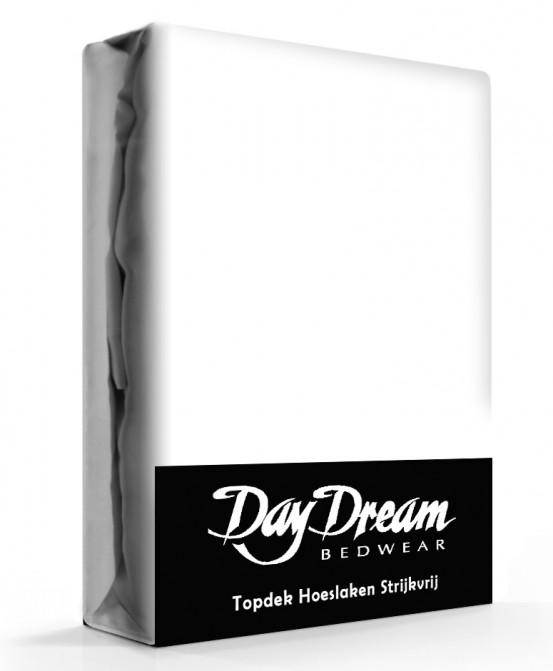 Day Dream Topper Hoeslakens Katoen Wit