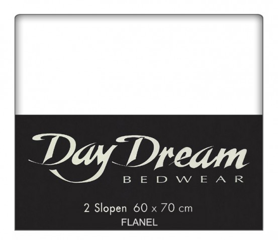 Flanellen Kussenslopen Wit (2 stuks) Day Dream