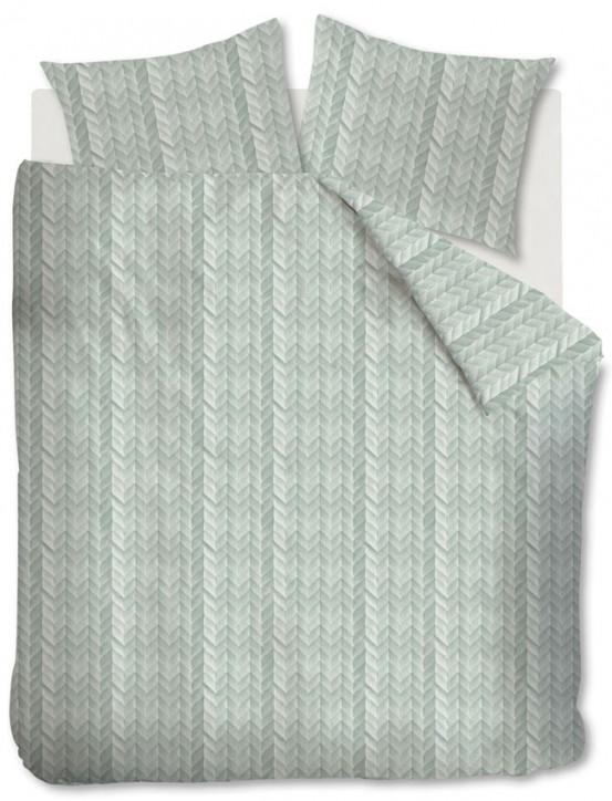At Home dekbedovertrek Fold Green Grey