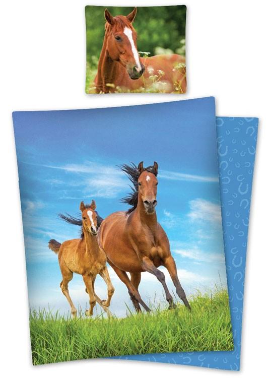 Dekbedovertrek Paard en Veulen 140x200cm