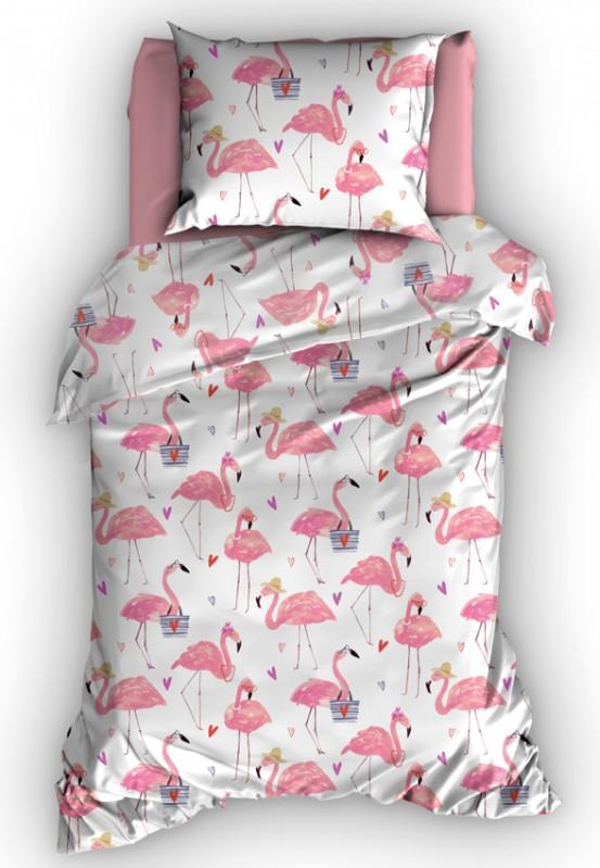 Duimelot Dekbedovertrek Flamingo