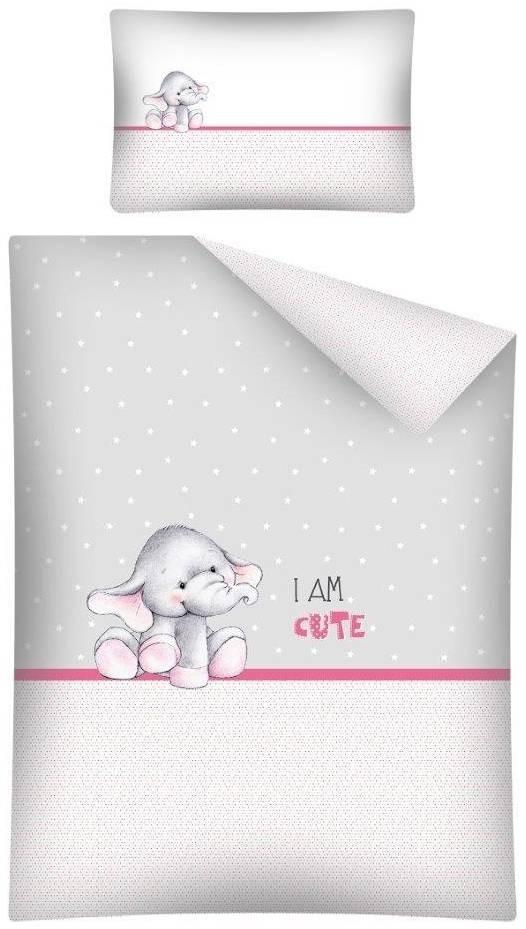 Dekbedovertrek Olifantje I am Cute Grey