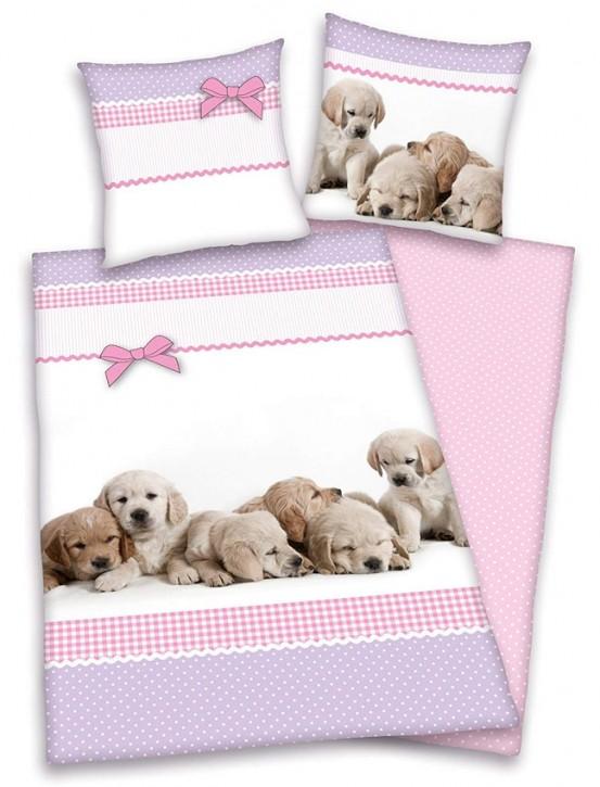 Dekbedovertrek Little Puppies 135x200cm