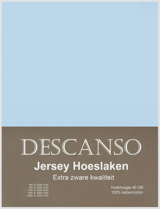 Descanso Jersey Hoeslaken Lichtblauw