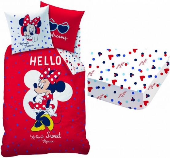 Set Dekbedovertrek + Hoeslaken Disney Minnie Mouse