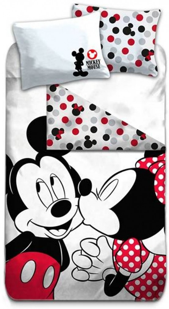 Minnie en Mickey Mouse Dekbedovertrek Kiss