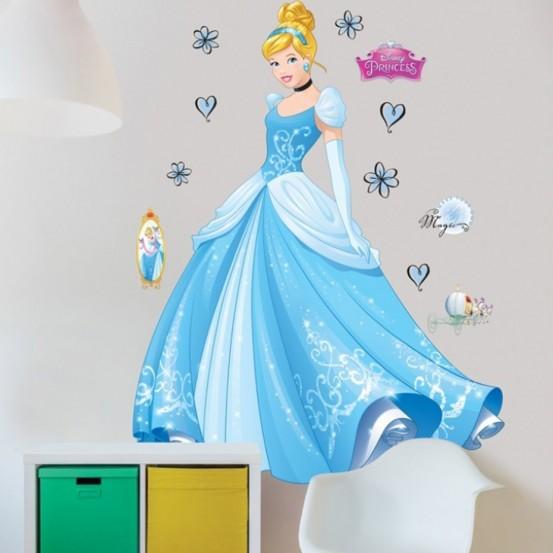 Disney Princess Assepoester Muursticker (Walltastic)