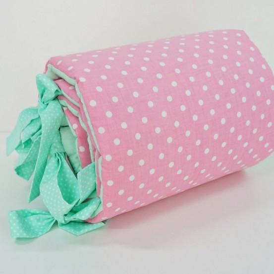Dolly Dots Hoofdbeschermer Mint-Roze
