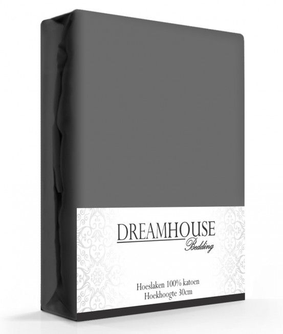 Dreamhouse Hoeslaken Katoen Antraciet